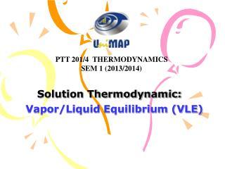 Solution Thermodynamic: