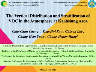 The Vertical Distribution and Stratification of VOC in the Atmosphere at Kaohsiung Area
