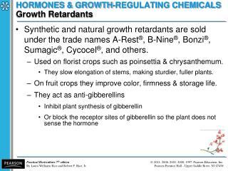 HORMONES & GROWTH-REGULATING CHEMICALS Growth Retardants