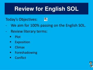 Review for English SOL