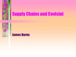 Supply Chains and Covisint