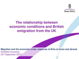 The relationship between economic conditions and British emigration from the UK