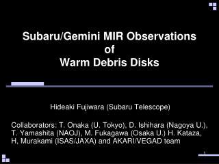 Subaru/Gemini  MIR Observations of Warm Debris Disks