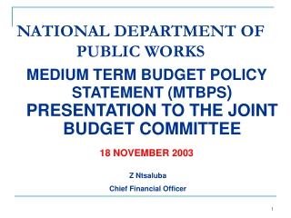 THE EXPANDED PUBLIC WORKS PROGRAMME