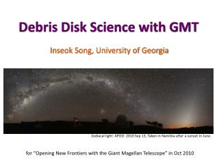 Debris Disk Science with GMT