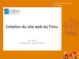 Création du site web du Fimu