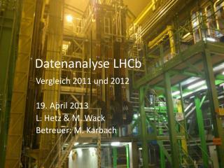 Datenanalyse  LHCb