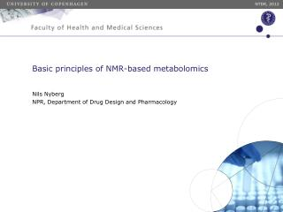 Basic principles of NMR-based metabolomics