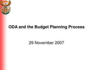 ODA and the Budget Planning Process