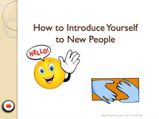 How to Introduce Yourself  to New People