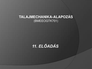 11. ELŐADÁS