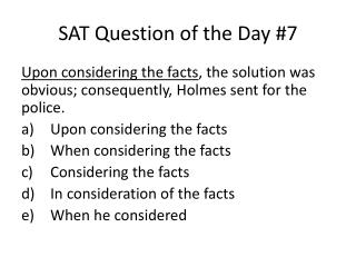 SAT Question of the Day #7