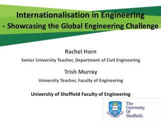 Internationalisation in Engineering -  Showcasing the Global Engineering Challenge