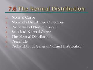 7.6  The Normal Distribution