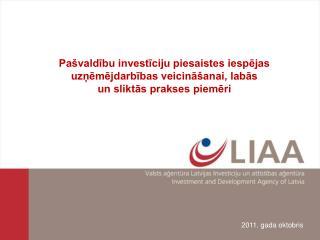 Pašvaldību investīciju piesaistes iespējas uzņēmējdarbības veicināšanai, labās