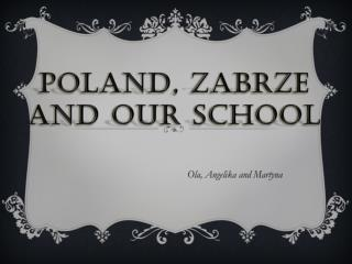 Poland, Zabrze and  our  school