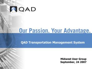 QAD Transportation Management System