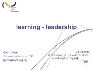 learning - leadership