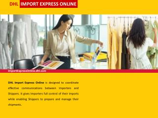 DHL   IMPORT EXPRESS ONLINE