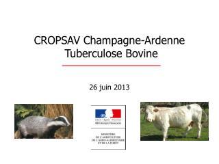 CROPSAV Champagne-Ardenne  Tuberculose Bovine