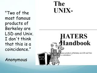 Basics of the Unix/Linux Environment