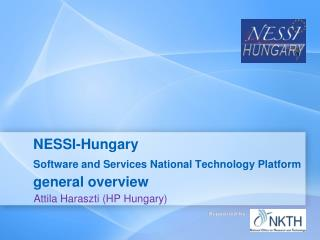 NESSI-Hungary Software and Services National Technology Platform  general overview