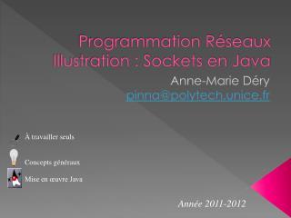 Programmation Réseaux Illustration : Sockets en Java