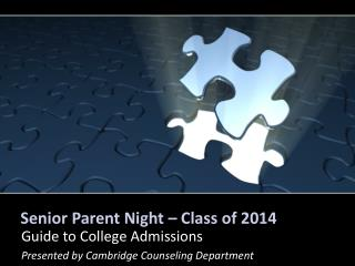 Senior Parent Night – Class of 2014