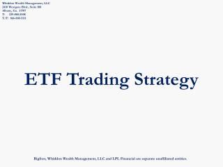 ETF Trading Strategy