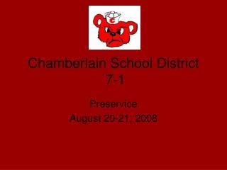 Chamberlain School District  7-1