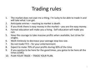 Trading rules