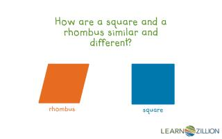 How are a square and a rhombus similar and different?
