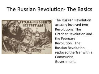 The Russian Revolution- The Basics