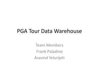 PGA Tour Data Warehouse