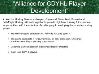 We, the Hockey Directors of Aspen, Glenwood, Steamboat, Summit and