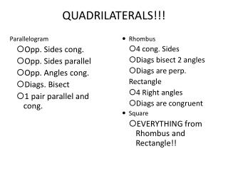 QUADRILATERALS!!!