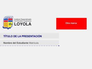 T�TULO DE LA PRESENTACI�N