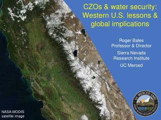 CZOs &  water  security: Western  U.S.  lessons & global implications