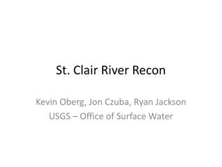 St. Clair River Recon