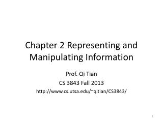 Chapter 2 Representing and Manipulating Information