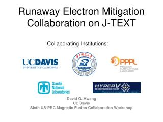 Runaway Electron Mitigation Collaboration on J-TEXT