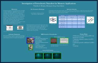 Investigation of Ferroelectric  Nanodots  for Memory Applications