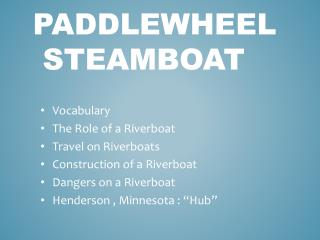 paddlewheel  steamboat