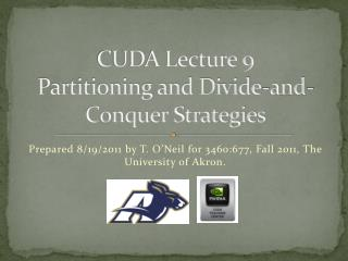 CUDA Lecture 9 Partitioning and Divide-and-Conquer Strategies