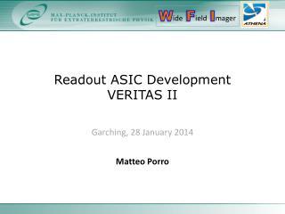 Readout ASIC Development VERITAS II
