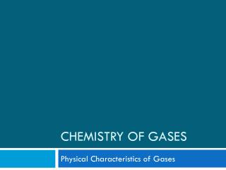 Chemistry of Gases