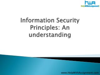 Information Security Principles An understanding