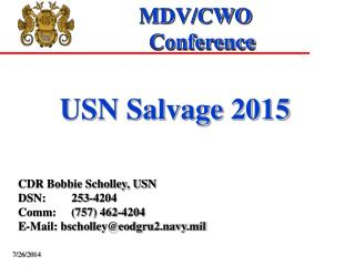 MDV/CWO Conference