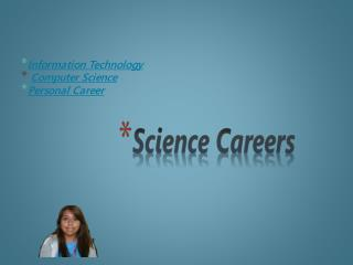 Information Technology Computer Science  Personal Career