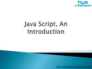Java Script An Introduction